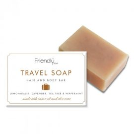 Friendly Travel Soap med Kristpalmeolie & Aloe Vera (95 g)
