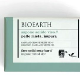 BIOEARTH SOAPS Face Solid Soap - Organic Sage And Neem Oil (150 g)