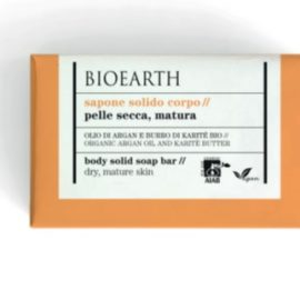 BIOEARTH SOAPS Body Solid Soap - Organic Argan Oil And Shea Butter (150 g)