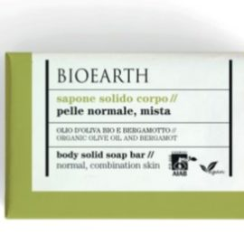 BIOEARTH SOAPS Body Solid Soap - Organic Olive Oil And Bergamot (150 g)